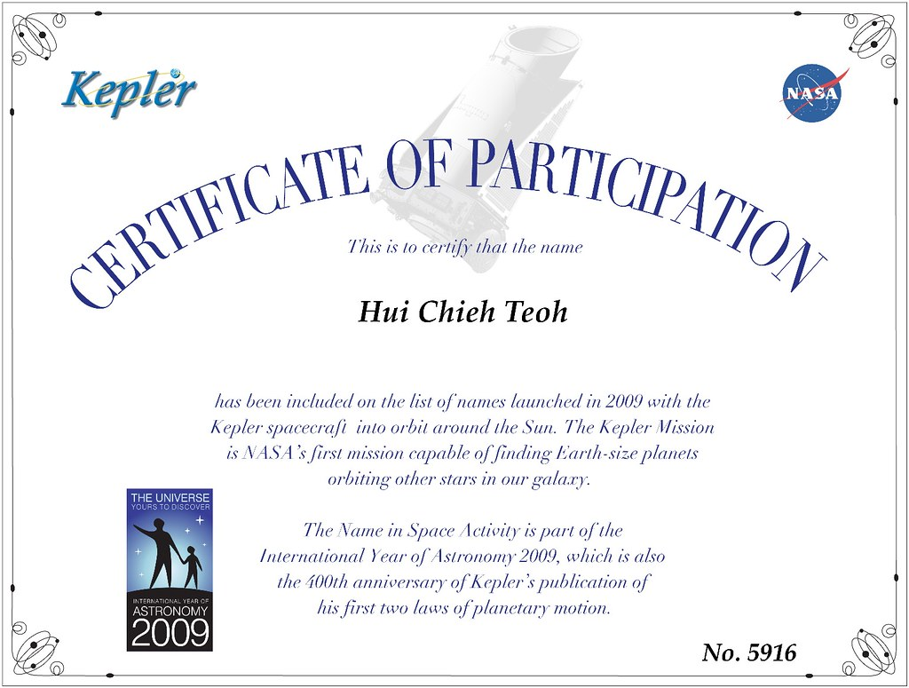 ... Certificate For Your Participation.