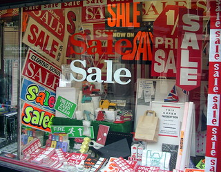 Sale In A Sale Shop Selling Sale Signs