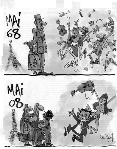Las diferencias entre Mayo del 68 y el actual Mayo del 2008 parisino en></img></a><br /><br /><span style=