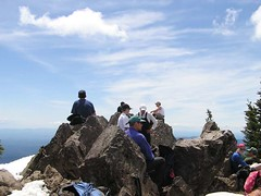 "A few of our closest ""friends"" on the summit!"