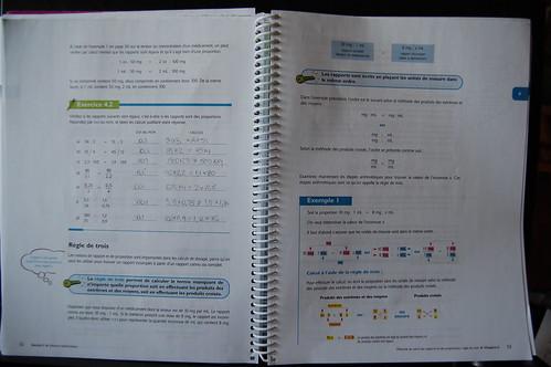 cahier mathématiques et médicaments