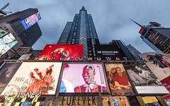 Wall of adverts (dansshots) Tags: timessquarenewyorkcity timessquarenyc lookup lookingup alwayslookup wideangle rokinon nyc newyorkcity nikon nikond750 dansshots iloveny timessquare rokinon14mm