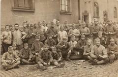 Peelers! (EastMarple1) Tags: french soldiers ww1 military potato peeling building postcard france