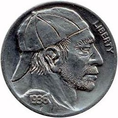 Hobo Nickel with Baseball Cap