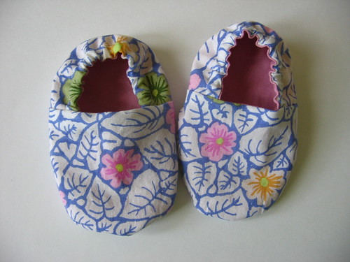 Leafy Flower Baby Shoes