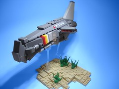HIGAIS Light Assault Bomber (jestin pern) Tags: fiction race star lego space science nascar future spaceship fi corvette sci racer starfighter