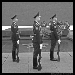Trio (shutterBRI) Tags: travel blackandwhite bw 3 canon photography three photo memorial war russia moscow military tomb rifles powershot soviet soldiers guns guards unknownsoldier weapons kremlin worldwar2 2007 honorguard a630 greatpatrioticwar mockba shutterbri challengeyouwinner brianutesch brianuteschphotography