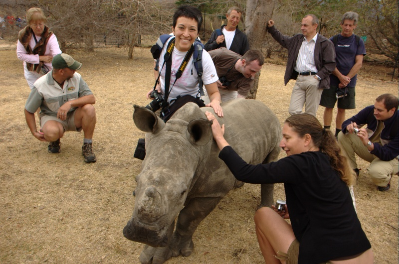 Cynthia and the rhino
