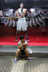 Guardian angel (Pawel Boguslawski) Tags: china street woman basketball sport angel canon hongkong asia 40d fds24h
