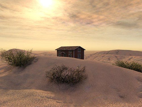 Little Red House in the Desert