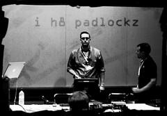 he h8s padlockz ((robcee)) Tags: bw oregon portland 50mm mozilla oscon 2007 johnath padlockz