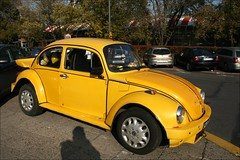 yellow (Edyta @}'-----) Tags: shadow car yellow volkswagen filmfest garage beetle poland warsaw 2007 edyta lennyabrahamson adampaul