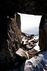 Tunnel near top of Corax Peak