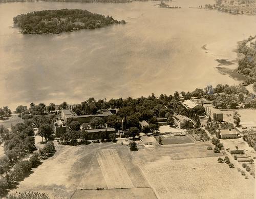 Campus panorama 1940s