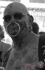 Nose piercing (weird.witch80) Tags: sanfrancisco tattoo fetish folsom bdsm piercing kinky folsomstreetfair folsomstreet nosepiercing folsomstreetfair2007 folsom2007