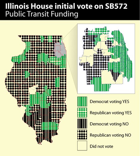 Illinois House initial vote on SB572, funding for Metra, CTA and Pace
