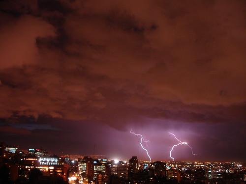 Tormenta nocturna en Bogotá