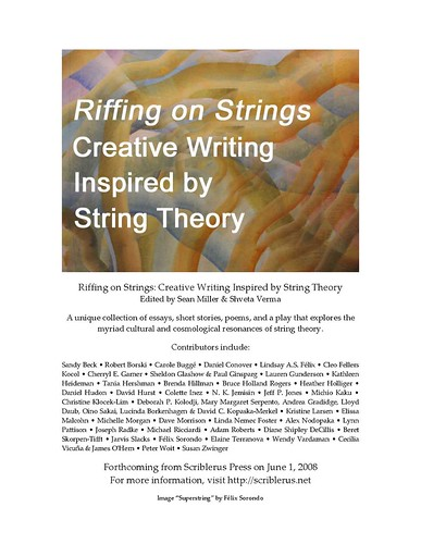 Flyer for Riffing on Strings Anthology