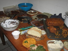 Vegan Thanksgiving Extravaganza...dessert table...after