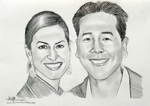 portraits couple pencil 281107