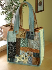 Country Patch Bag 2 - front par PatchworkPottery
