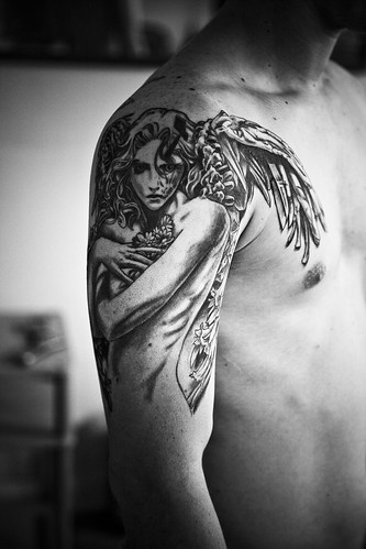 Manga angel full shot Tattoo by The Tattoo Studio