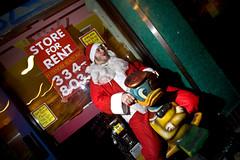 go ride a duck (sgoralnick) Tags: santa christmas xmas nyc holiday newyork costume santaclaus santacon canon5d mayhem barcrawl canon1635mmf28l offcameraflash santaconnyc santacon2007 santacon07 canonef1635mmf28liiusm