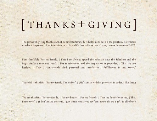 Thanks + Giving