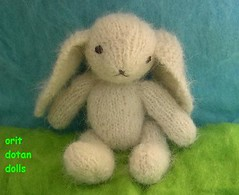 Hand knitted bunny of natural materials (orit dotan) Tags: rabbit bunny bunnies animals children toy toys knitting soft handmade   naturalmaterials naturalkids       oritdotandolls        dollsartist