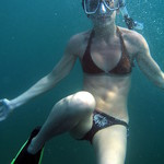 Rheline learning freediving