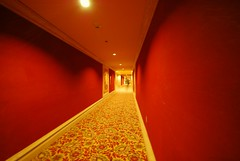 A Really Long Hall (merriewells) Tags: vanishingpoint angle perspective creative hotels corridors vanishingpoints diamondclassphotographer