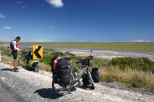 Beautiful cycling south of Meningie, South Australia...