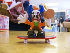 Killer Clown on a Skateboard. (JRGuinness) Tags: austin toys texas indoors