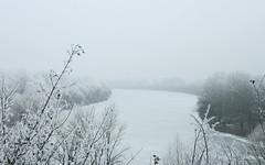 Ice-river Tisza - Hungary