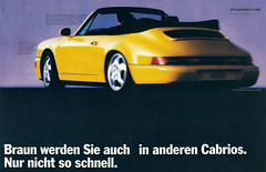 Reklame Porsche Carrera 2 Cabrio (1989) (jens.lilienthal) Tags: auto old 2 classic cars car vintage advertising reclame 911 ad convertible voiture advertisement porsche advert older autos werbung cabrio reklame voitures carrera cabriolet anzeige 964