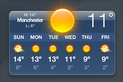 mightbemanchester (AllThroughWithThisNicenessAndNegotiation) Tags: apple weather manchester widget dashboard prediction
