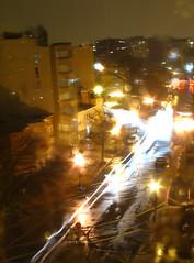 View from the window on a rainy night (soleil1016) Tags: city longexposure light blur window rain night canon evening washingtondc droplets powershot rainy raindrops dcist lighttrails streaks a620 canonpowershota620