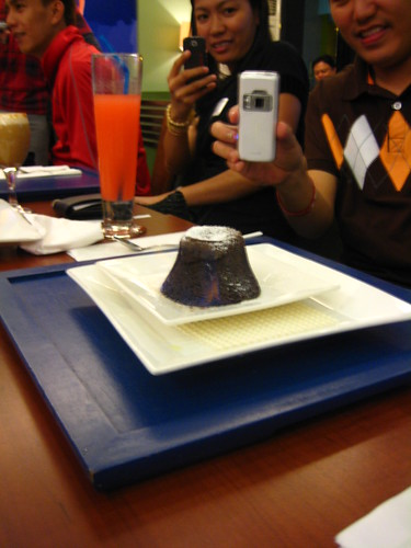 This Flaming Choco Lava Cake was a bestseller.