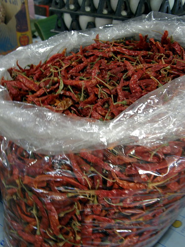 Dried chilis in Chiang Mai market