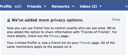 Facebook - more privacy