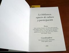 Autores de La Biblioteca, espacio de cultura y participacion