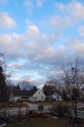 Blue Sky before Snow