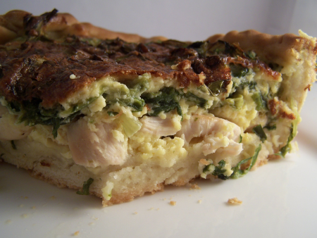 Endive & chicken quiche