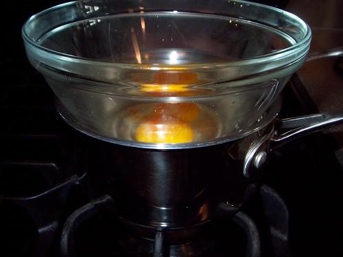 starting hollandaise sauce