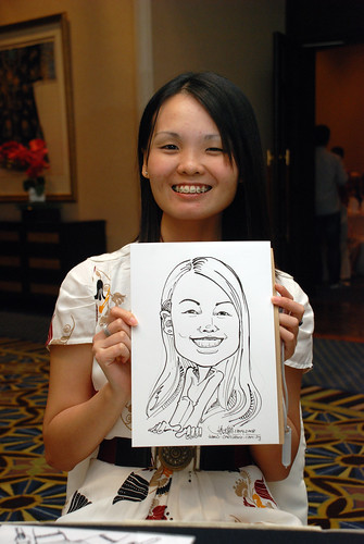 Caricature live sketching SIA Engineering 8