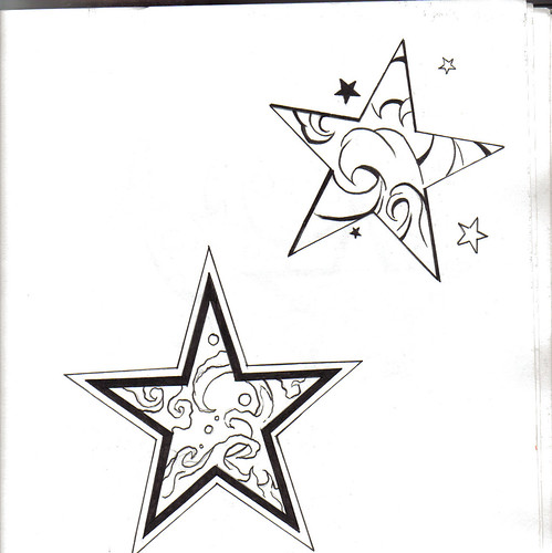 star outline tattoo. Star outline