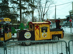 Holiday Train (jessica_in_to) Tags: winter cambridge snow ontario canada festival centralpark candyland christmasincambridge