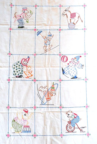 Circus Panel Vintage Embroidery