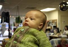 Nephew in his Baby Surprise Jacket