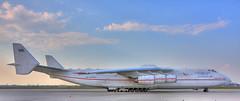 Antonov AN 225 Myria @ LEJ (zanyflash) Tags: sky white clouds airplane airport engine himmel wolken cargo apron flugzeug dri hdr buran oversize antonov weis lej vorfeld myria triebwerk an225 tonemapping mriya antonow flughafenleipzighalle ruslansalis